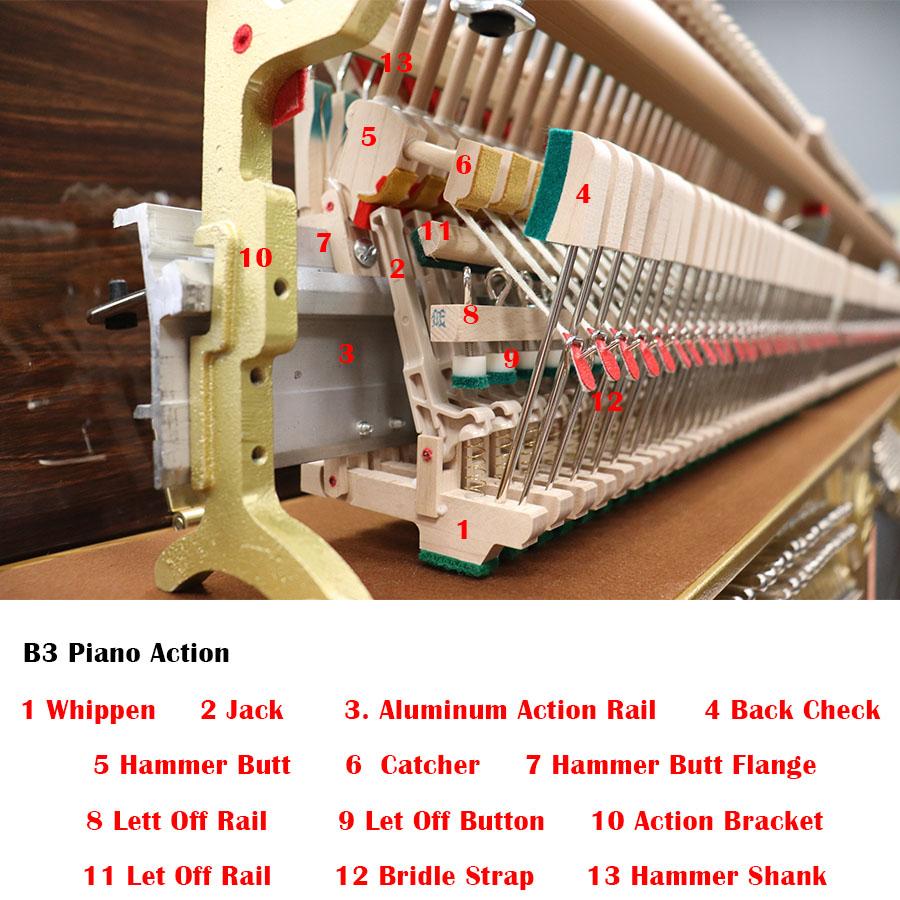 yamaha b3 piano action diagram