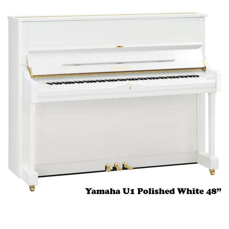 Yamaha U1 in polished White