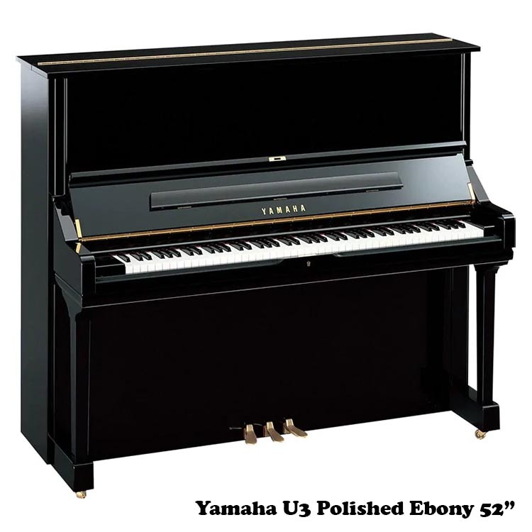 Yamaha U3 in polished Ebony