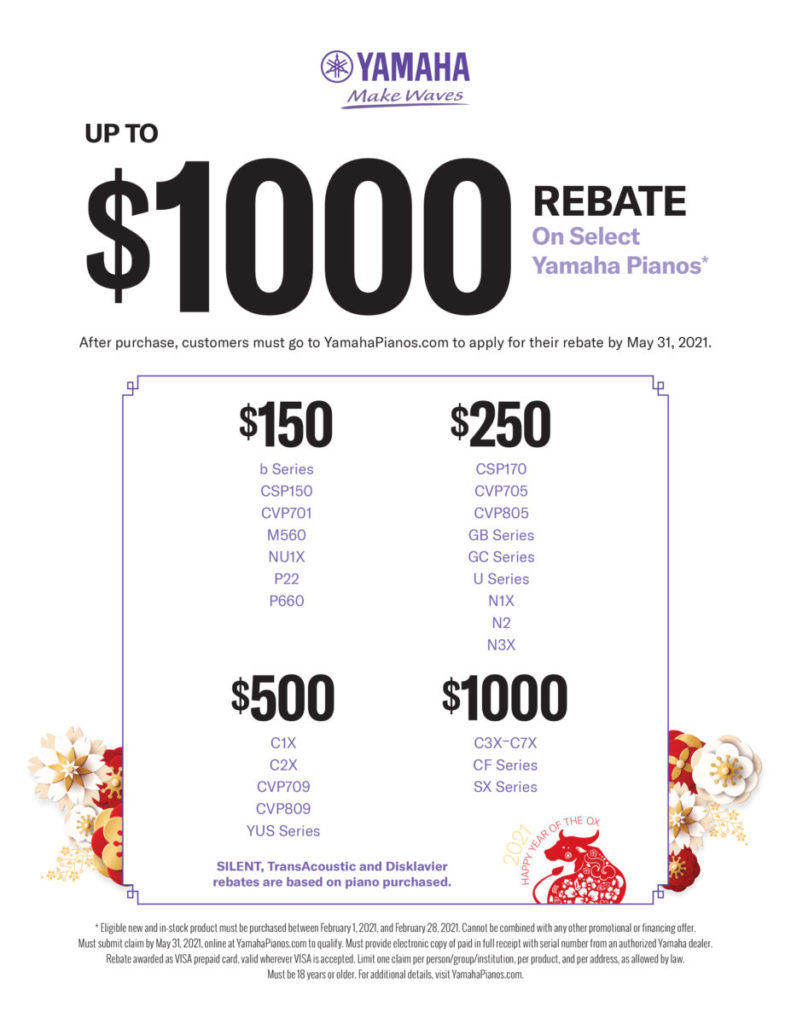 Chinese new year piano rebate